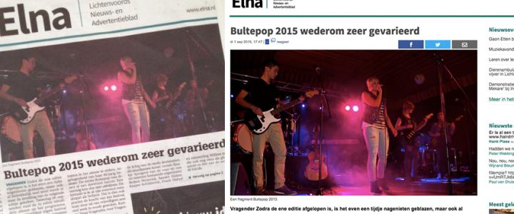 Bultepop op voorpagina ELNA!